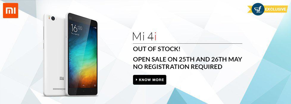 Xiaomi Mi 4i open sale without registration