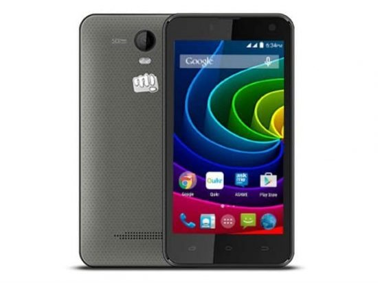 Micromax Bolt Q335 3G Dual SIM Smartphone Listed in Micromax's Website - 1
