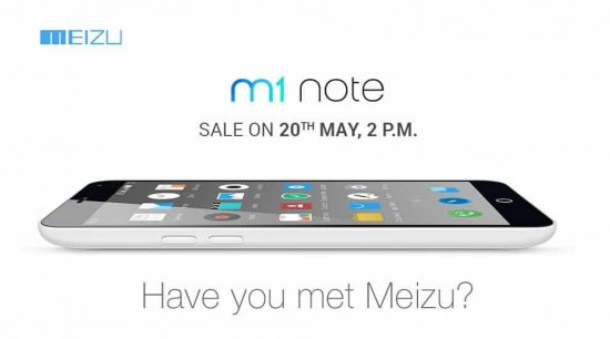Meizu launched M1 Note in India, open sale is on 20th May through Amazon - 1