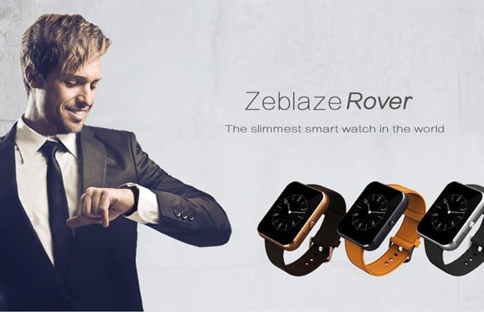 Zeblaze Rover: The slimmest smartwatch in the world ...