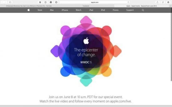 Watch Apple WWDC 2015 Keynote Live Streaming [windows+ Android] - 1