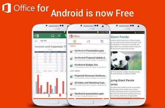 Microsoft Office is available for free to Android users: Sneak Peak of the app - 1