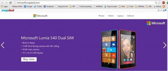 Microsoft partners with Snapdeal to launch online store - 1