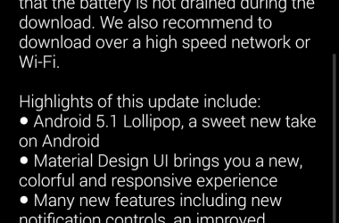 Official Android 5.1 rolled out for Moto X First Generation Smartphone - 2
