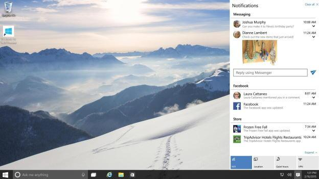 windows 10-action center