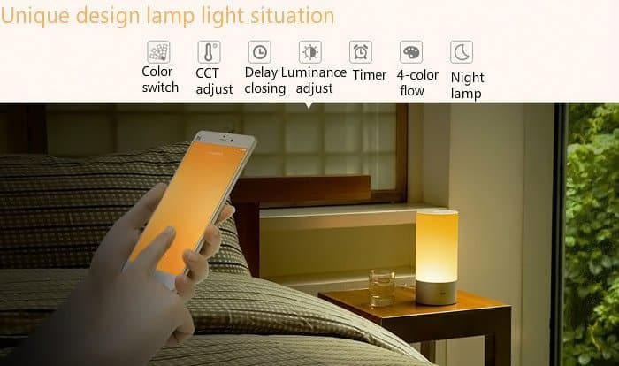 xiaomi yeelight unique-design-light-adjustment