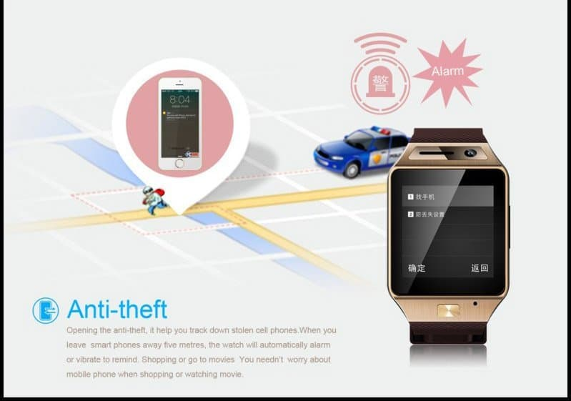 GV08S smartwatch-anti-theft