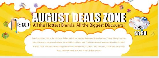 August Deals Zone 2015: Limited Stock Flash sale in GearBest| Products from Major Brands - 1