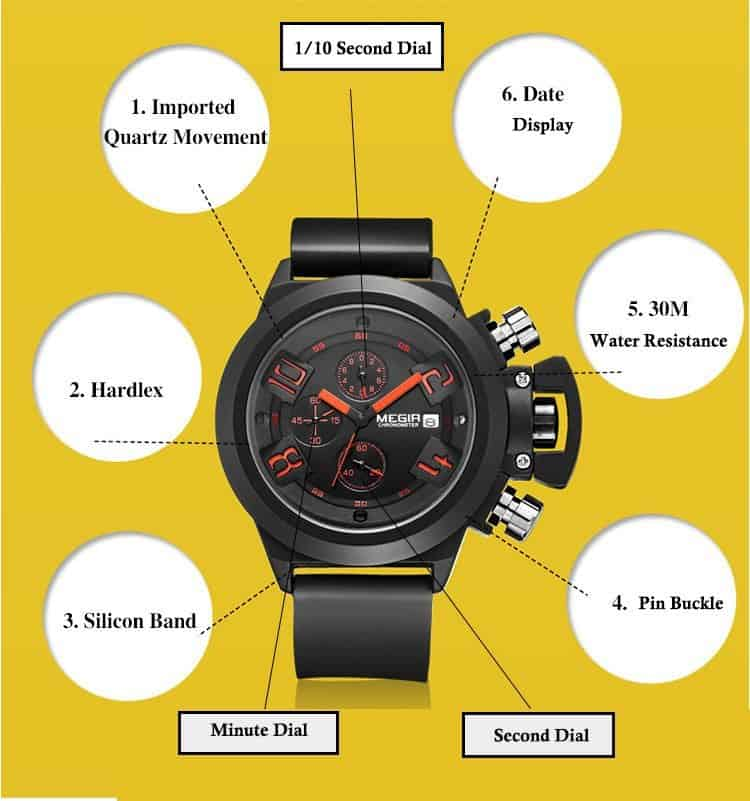 Megir-water-resistant-quartz-watch-features