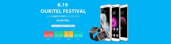 OukiTel Deals Festival: Flash sale on Smartphones & gears from August 19th - 1
