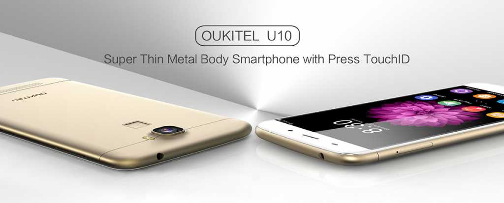 OukiTel U10 -superthin+press-touch-id
