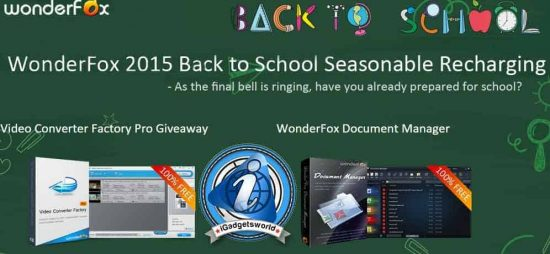 Back To School Offer: Get Video Converter Factory Pro & WonderFox Document Manager for free [Giveaway] - 1