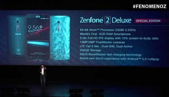 Asus Zenfone 2 Deluxe Special Edition launched with 256GB stoarge - 1