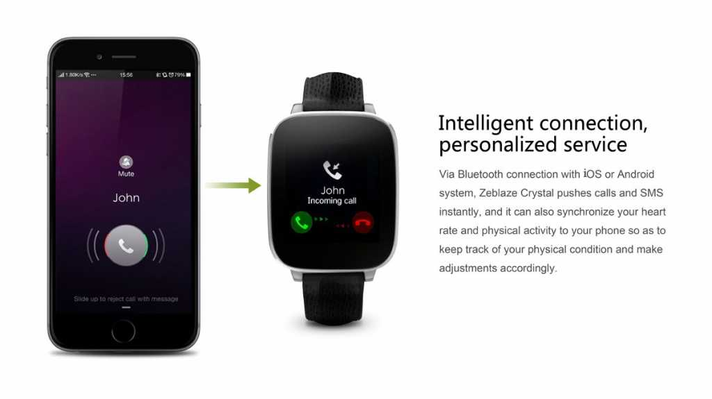 zeblaze crystal smartwatch-call-messages-sync