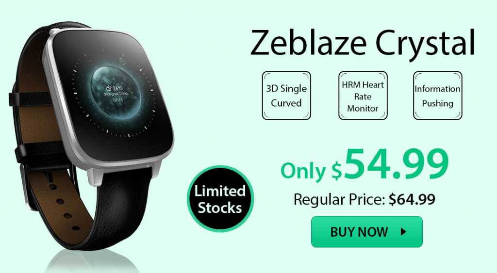 zeblaze crystal smartwatch-deal-alert