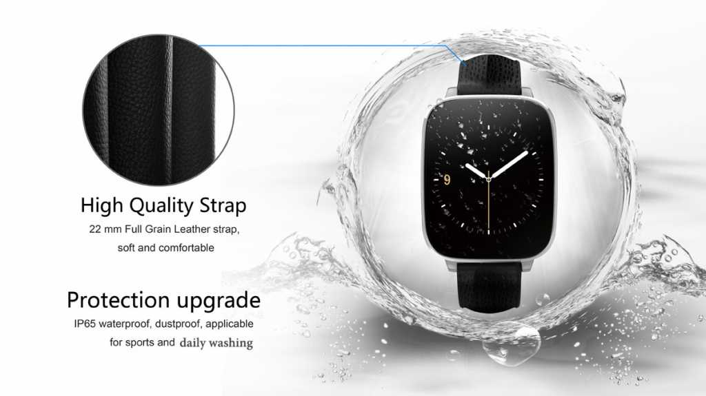 zeblaze crystal smartwatch-ip65-waterproof-protection