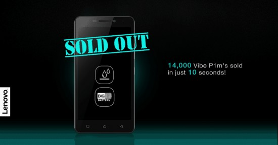 Lenovo Vibe P1m First Flash Sale: 14000 Units of sold out in 10 Seconds - 1