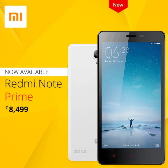 Xiaomi introduces slightly upgraded Redmi Note Prime with 5.5-inch Display & Dual Sim 4G LTE - 1