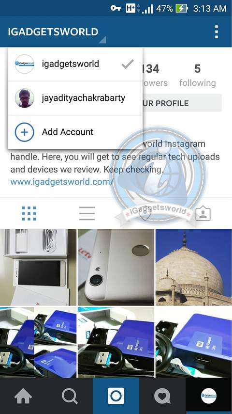 Instagram multiple account