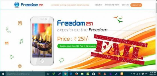 Freedom 251 Registration Goes Terribly Wrong - 1