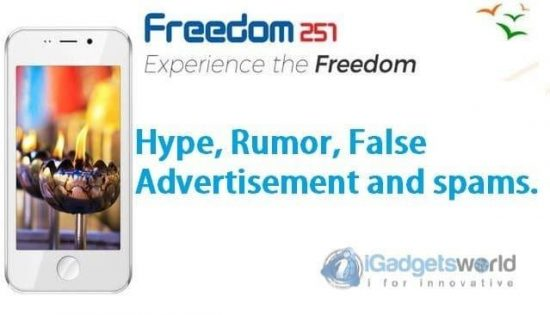 Freedom251 Shit: Hype, Rumor, False Advertising, Spams Made Me Mad - 1