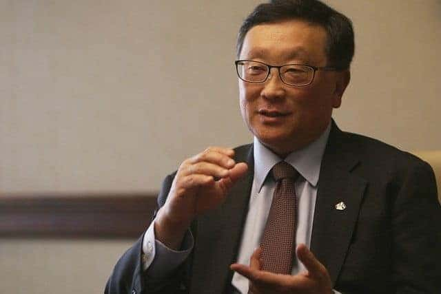 BlackBerry chief executive John Chen told The National the company plans to launch two mid-range Android handsets this year