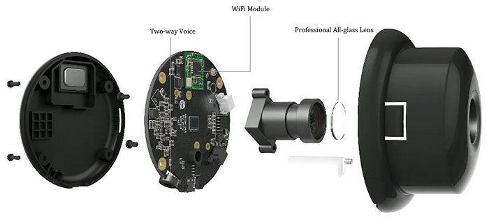 Xiaomi Xiaoyi Night Vision WiFi 720P IP Camera mechanism