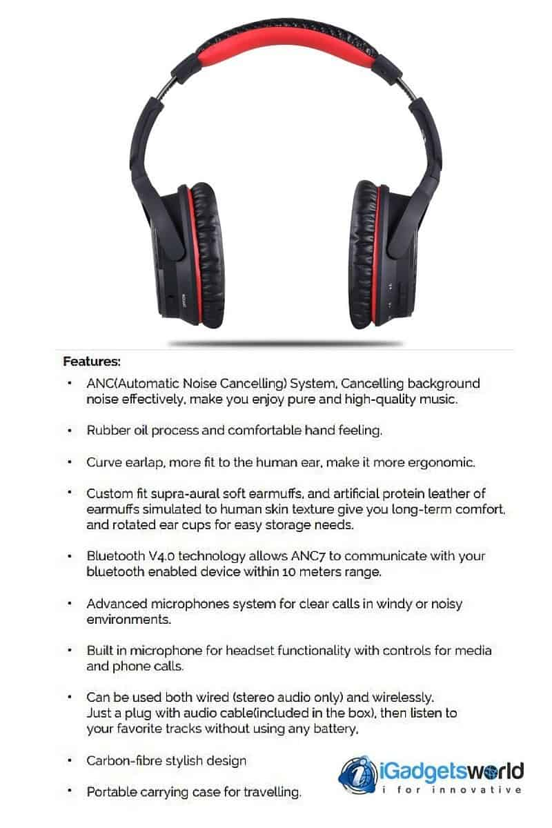 AUSDOM ANC7 wireless headphone features
