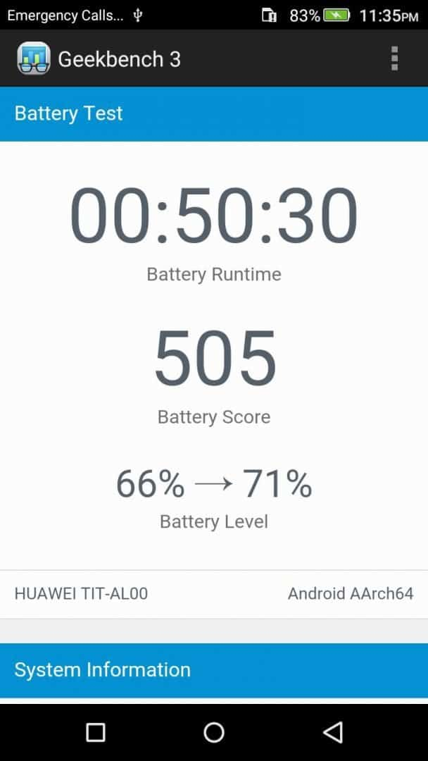 Honor Holly 2 Plus - GeekBench 3.0 Scores - 1