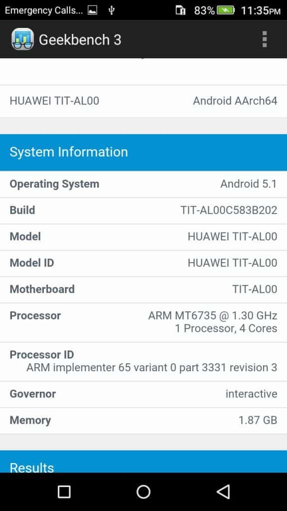 Honor Holly 2 Plus - Geekbench- full specs