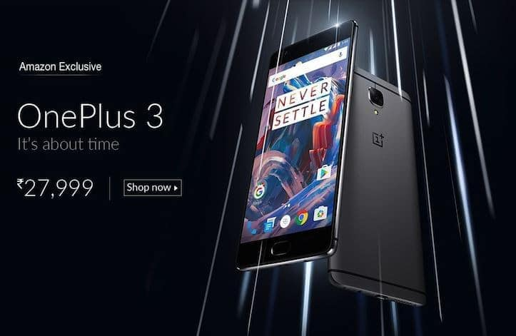 OnePlus 3 Specs & Pricing are official on Amazon India - 2