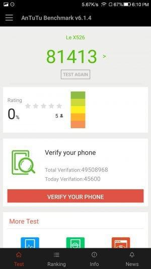 LeEco Le 2 AnTuTu Benchmarking Results - 10