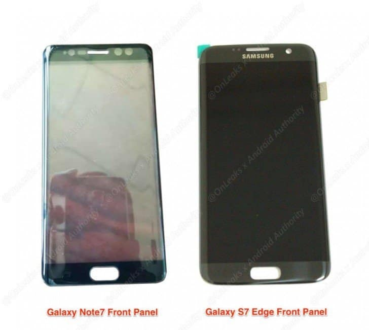 With the leak of Note 7 panels, it depicts that the Galaxy Note 7 will have an Iris Scanner.