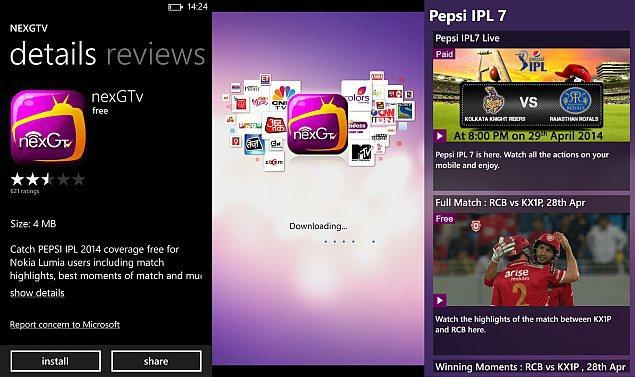 nexGTv Live TV Movies & Cricket