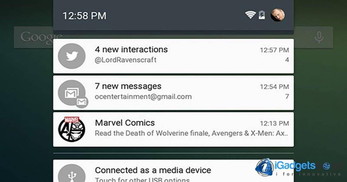 Android Nougat and its new grouping notifications