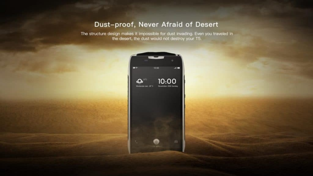 Doogee T5 smartphone - Features - dust proof