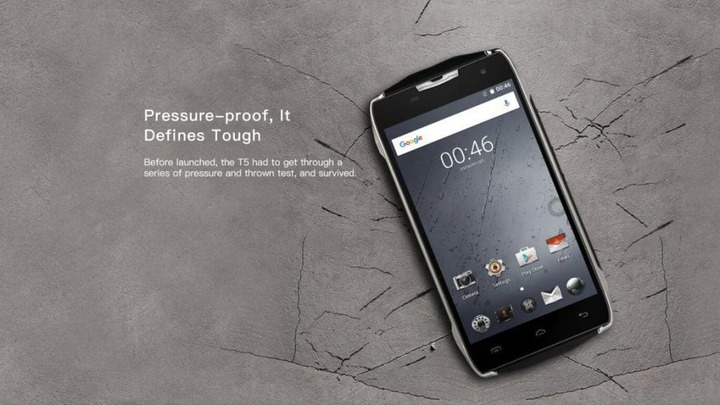 Doogee T5 smartphone - Features - pressure proof