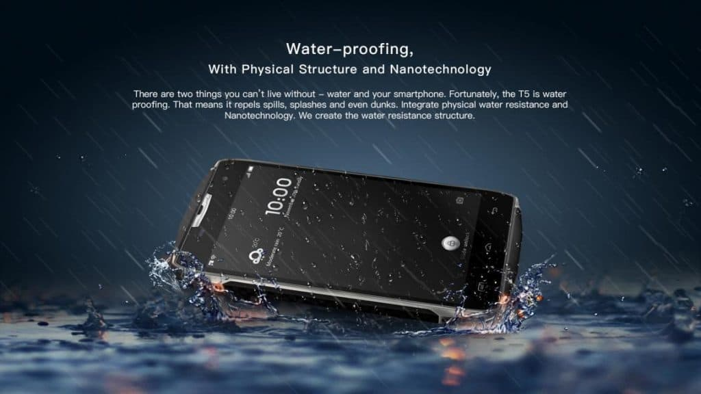 Doogee T5 smartphone - Features - water proof