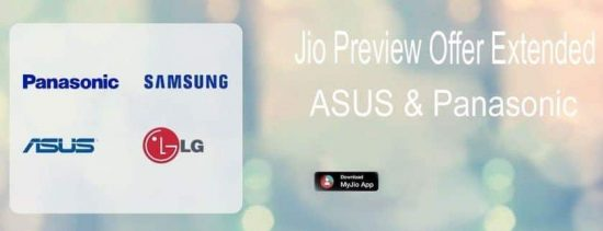 Jio Preview Offer is now officially available for ASUS and Panasonic phones [Full List] - 1