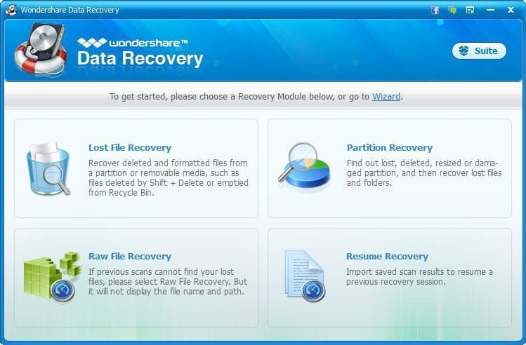 Wondershare Data Recovery Home