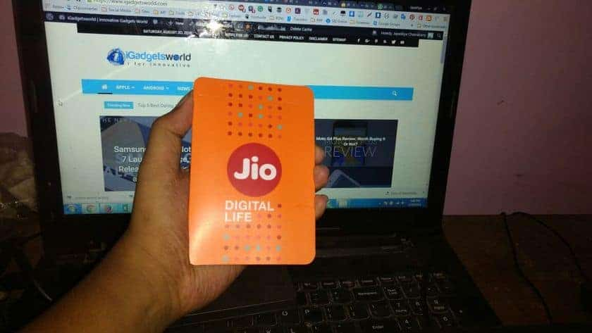 Jio 4G Preview Offer- Got a free SIM with Galaxy J7 2015