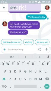 Allo- message suggestions