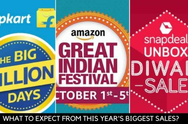 What to expect from Flipkart Big Billion Day 2016, Amazon Great Indian Festival Sale and Snapdeal Unbox Diwali Sale - 7