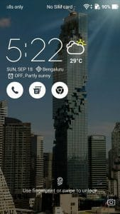 Weather widget animates on the lock screen
