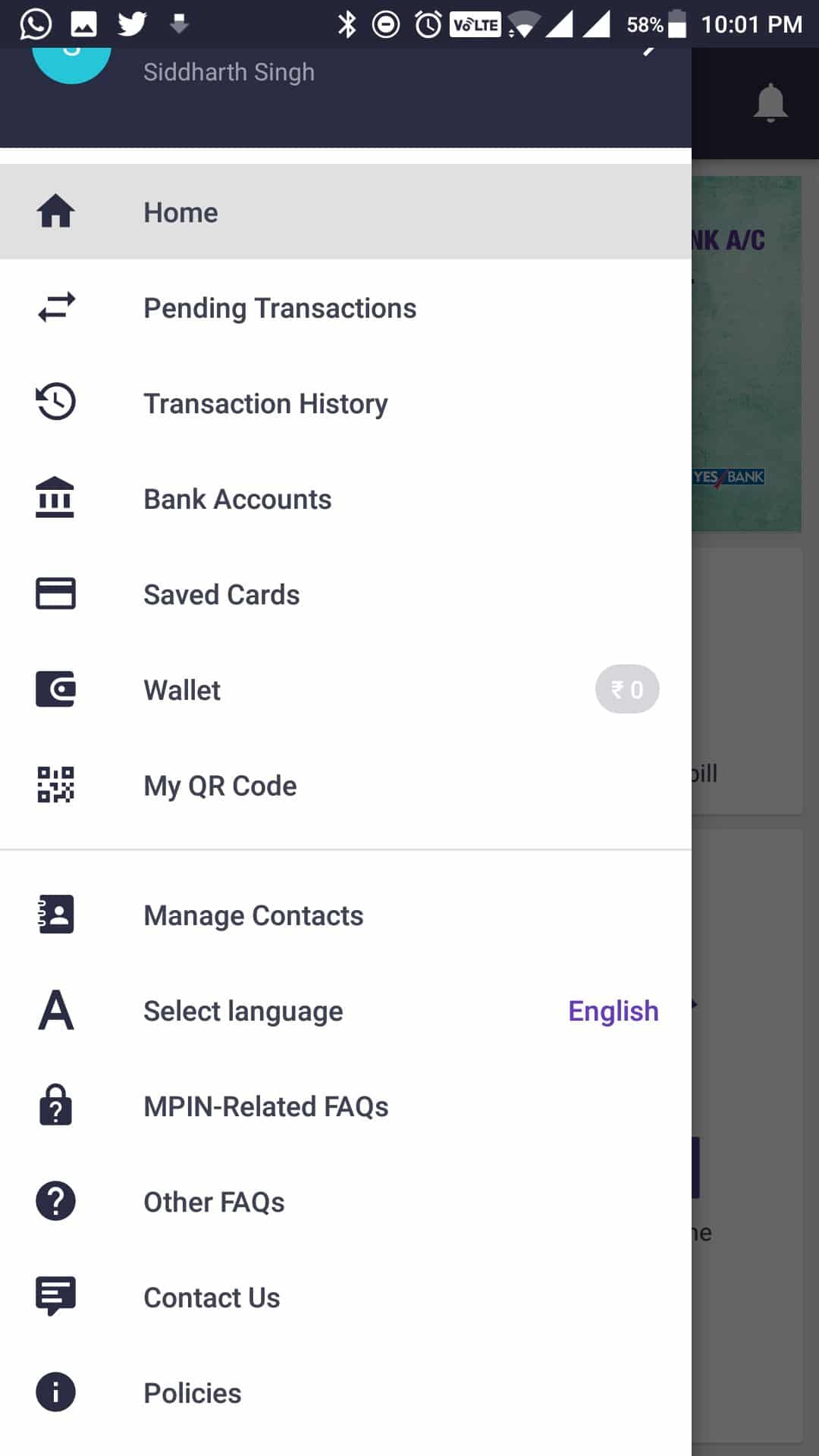 PhonePe - App Options