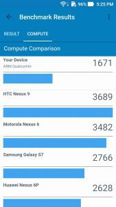 Zenfone 3 Max performance Geekbench