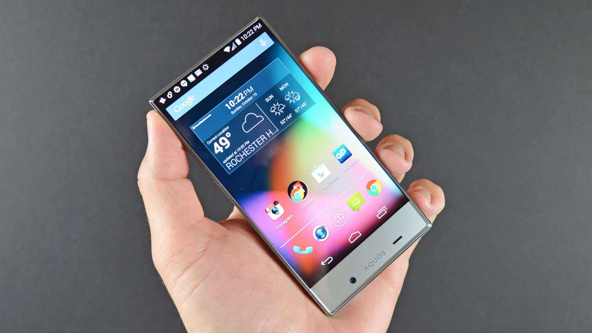 Sharp Aquos Crystal - Edgeless display