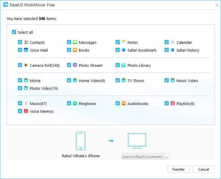 EaseUS MobiMover: One click Data Transfer Solution for Apple devices - 3