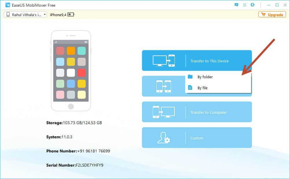 EaseUS MobiMover: One click Data Transfer Solution for Apple devices - 2